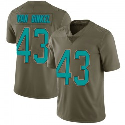 Nike Andrew Van Ginkel Miami Dolphins Youth Limited Green 2017 Salute to Service Jersey