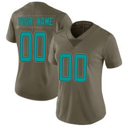 Nike Custom Miami Dolphins Women's Limited Green 2017 Salute to Service Jersey