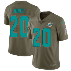 Nike Reshad Jones Miami Dolphins Youth Limited Olive 2017 Salute to Service Jersey